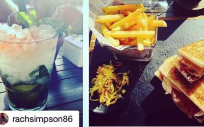 #Repost @rachsimpson86 ・・・ Lovely chilled out lunch. Although I had to give half my sandwich and chips away! Far too full! 😂😂😂 #chilled #lunch #Meloneras #sunny #clubsandwich #fries #mojito #classic