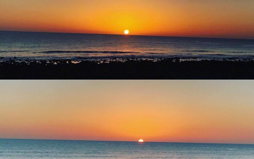 Nuestras vistas de cada día! ? #sunset  #CafédelMar #Meloneras #GranCanaria #club #restaurant #cabaret