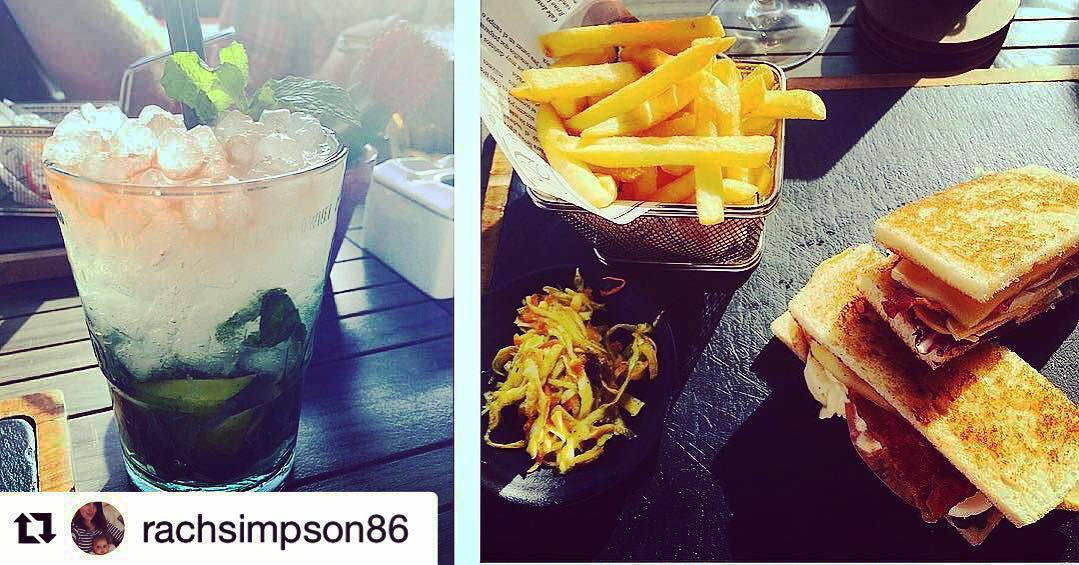 #Repost @rachsimpson86 ・・・ Lovely chilled out lunch. Although I had to give half my sandwich and chips away! Far too full! ??? #chilled #lunch #Meloneras #sunny #clubsandwich #fries #mojito #classic
